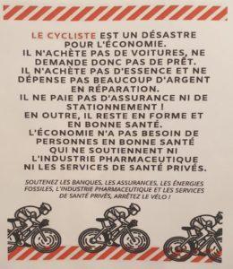 Read more about the article Soutenons le vélo dans nos villes